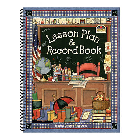 Teacher Created Resources Susan Winget Lesson Plan And Record Books, Pack Of 2