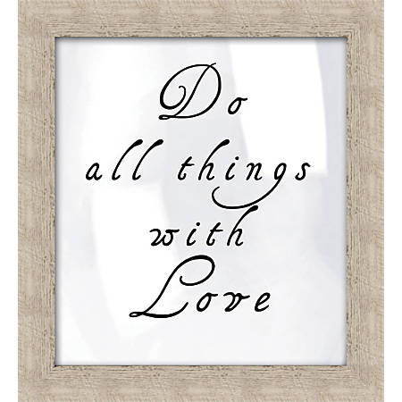 """PTM Images Expressions Framed Wall Art, Do All Things, 21 1/2""""H x 17 1/2""""W, Crude"""