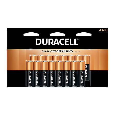 Duracell® Coppertop AA Alkaline Batteries, Pack of 16