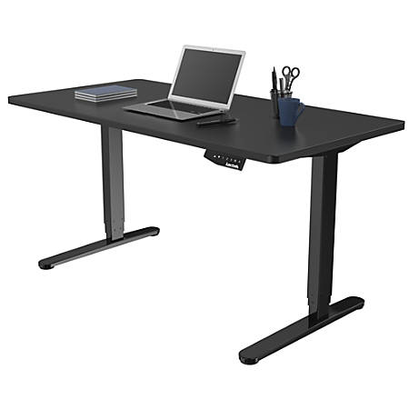 official photos b7be8 a716c Loctek Electric Height-Adjustable Stand-Up Desk, Black Item # 2422871
