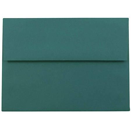 """JAM Paper® Booklet Invitation Envelopes, A6, 4 3/4"""" x 6 1/2"""", Teal, Pack Of 25"""