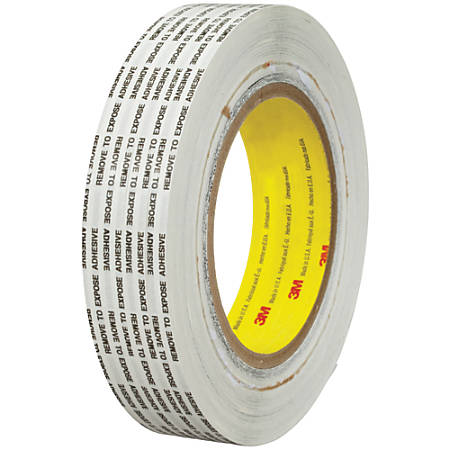 """3M™ 466XL Adhesive Transfer Tape, 3"""" Core, 1"""" x 1,000 Yd., Clear, Case Of 6"""