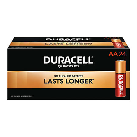 Duracell® Quantum AA Alkaline Batteries, Pack Of 24
