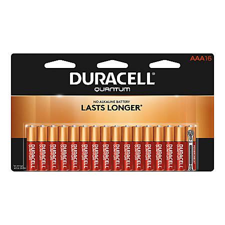 Duracell® Quantum Alkaline AAA Batteries, Pack Of 16 Batteries