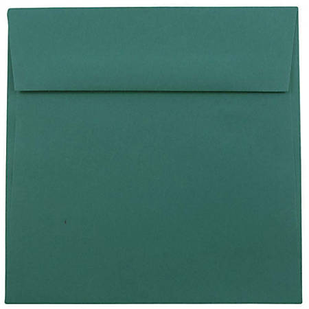 "JAM Paper® Color Square Invitation Envelopes, 8 1/2"" x 8 1/2"", Teal, Pack Of 25"