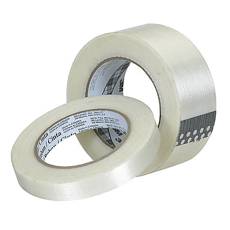 "3M® 8934 Strapping Tape, 1/2"" x 60 Yd., Clear, Case Of 72"
