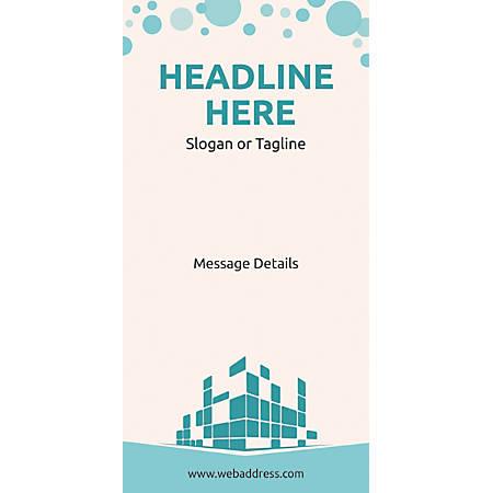 Custom Vertical Display Banner, Graphic Building