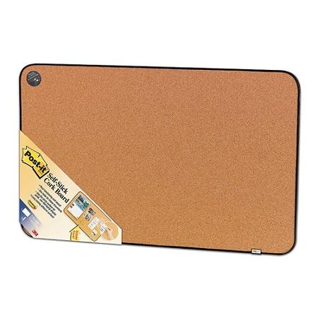 Post It Sticky Cork Board 18 X 22 Tan Board Black Frame By Office