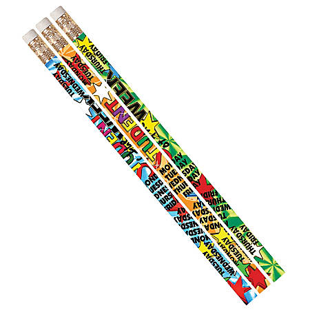 Musgrave Pencil Co. Motivational Pencils, 2.11 mm, #2 Lead, Student Of The Week, Multicolor, Pack Of 144