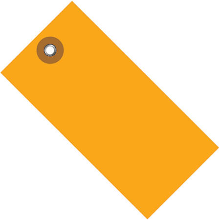 "Office Depot® Brand Tyvek® Shipping Tags, 3 1/4"" x 1 5/8"", Orange, Case Of 100"
