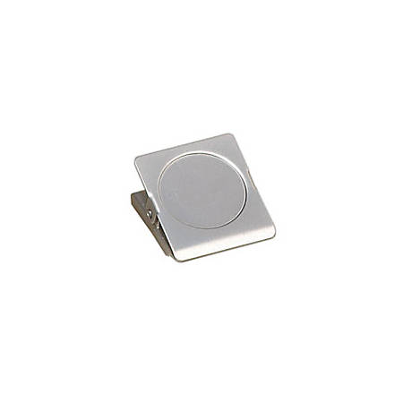 "Office Depot® Brand Magnetic Clips, 1 3/4"", Silver, Pack Of 3"