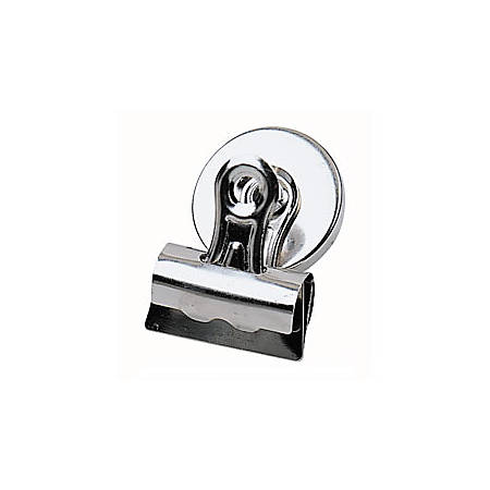 """Office Depot® Brand Bulldog Magnetic Clips, 2 1/4"""", Silver, Pack Of 3"""