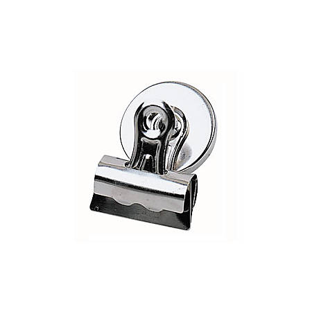 """Office Depot® Brand Bulldog Magnetic Clips, 1 1/4"""", Silver, Pack Of 3"""