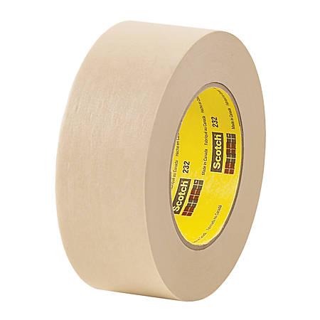 """3M™ 232 Masking Tape, 1"""" x 60 Yd., Tan, Case Of 36"""