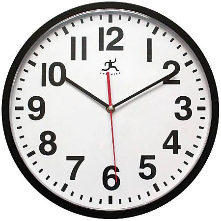 "Infinity Instruments ITC Pure Wall Clock, 13"", Black"