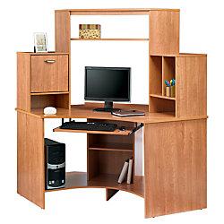 Reale Magellan Collection Corner Workstation Honey Maple