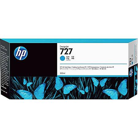 HP 727 - 300 ml - High Capacity - dye-based cyan - original - DesignJet - ink cartridge - for DesignJet T1500, T1530, T2500, T2530, T920, T930