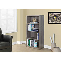 Monarch Specialties Adjustable 3 Shelf Bookcase
