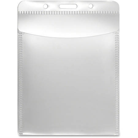 Advantus PVC-Free Vertical Badge Holder - Vertical - Polypropylene - 50 / Pack - Clear