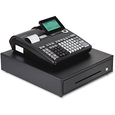 Casio® PCR-T2300 Electronic Cash Register With LCD Display, Black