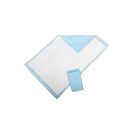 "Medline Disposable Extra-Fluff Underpads, 30"" x 30"", Blue, Pack Of 10"