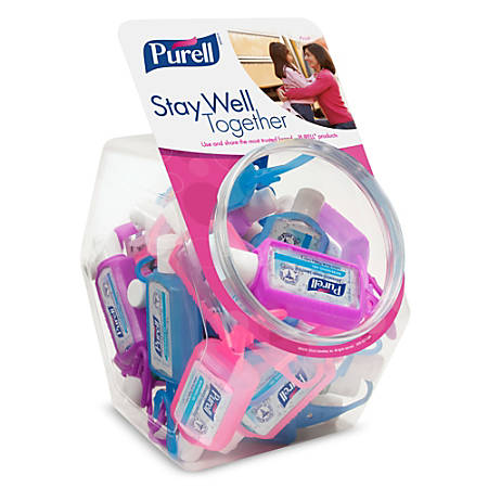 Purell® Advanced Instant Hand Sanitizer Gel In Jelly Wrap™ Carriers, 1 Oz, Assorted Colors, Bowl Of 25