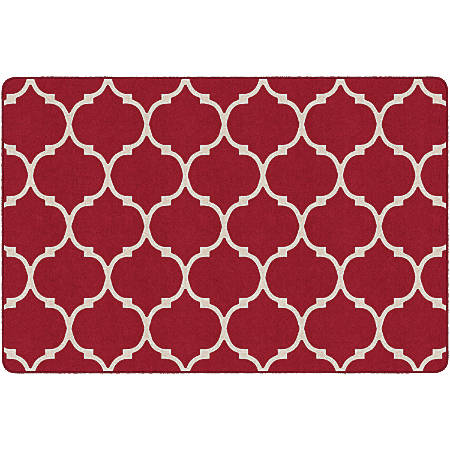 "Flagship Carpets Moroccan Trellis Rectangular Rug, 72"" x 108"", Red"
