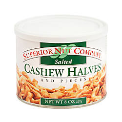 Superior Nut Nuts Salted Cashew Halves
