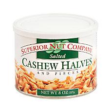 Superior Nut Nuts Salted Cashew Halves