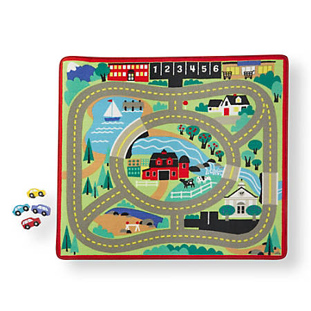 Melissa & Doug Round The Town Road Rug, Pre-K To Grade 2