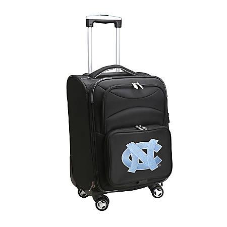 "Denco Sports Luggage Expandable Upright Rolling Carry-On Case, 21"" x 13 1/4"" x 12"", Black, North Carolina Tar Heels"