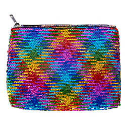 Office Depot Sequined Makeup Bag Rainbow