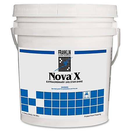 Franklin Cleaning High-performance Floor Finish - Liquid - 5 gal (640 fl oz) - Polymeric Scent - 1 Each - Off White