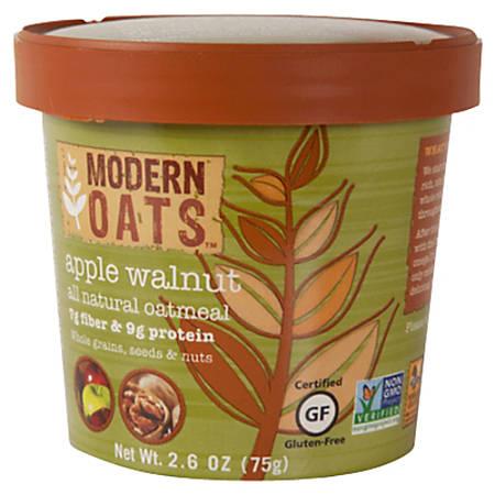 Modern Oats™ Oatmeal Cups, Apple Walnut, 2.6 Oz, Pack Of 12