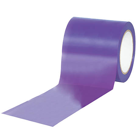 "BOX Packaging Solid Vinyl Safety Tape, 3"" Core, 4"" x 36 Yd., Purple, Case Of 3"
