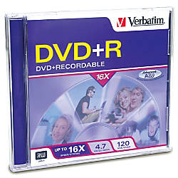 Verbatim DVDR 47GB 16X with Branded