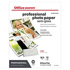 Office Depot Professional Photo Paper Semi