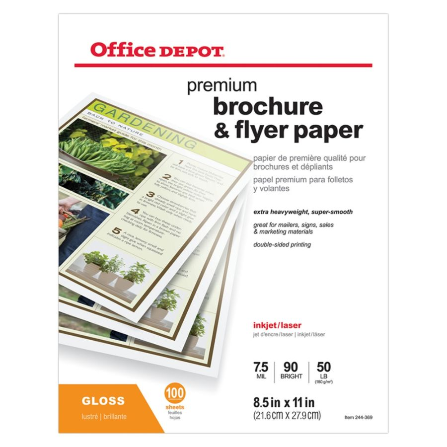 Office Depot Brand Professional Brochure And Flyer Paper Glossy 8 12