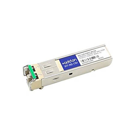 AddOn MSA and TAA Compliant 1000Base-DWDM 100GHz SFP Transceiver (SMF, 1539.77nm, 80km, LC, DOM)