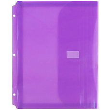 JAM Paper Plastic Binder Envelopes With