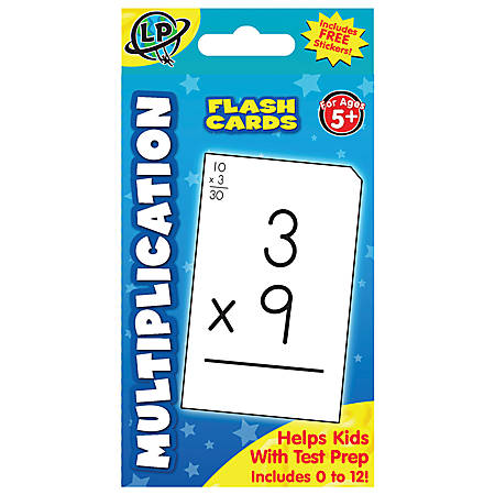 Learning Playground Flash Cards Multiplication Pack Of 55 by Office ...
