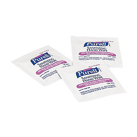 Purell Premoistened Sanitizing Hand Wipes, White, Case Of 1,000 Packets