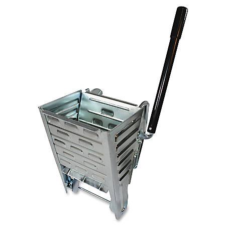 Genuine Joe Metal Squeeze Wringer - Steel - Metallic