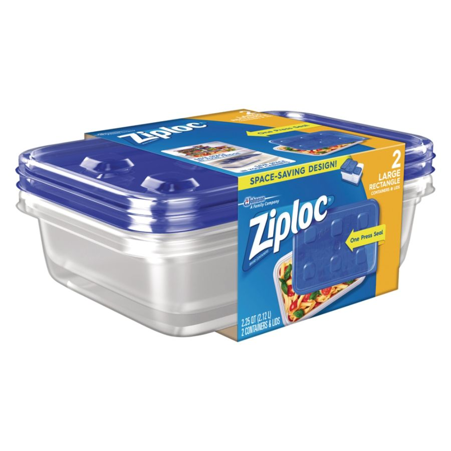 Ziploc Plastic Food Storage Container Set Clear Pack Of 2 by Office