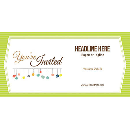 Custom Horizontal Banner, Green Stripes