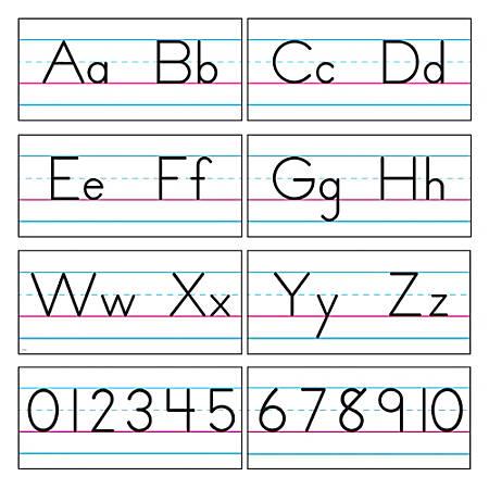 "TREND Bulletin Board Set, Alphabet Manuscript, 8"" x 18"", White, Grades K-6"