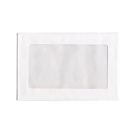 """JAM Paper® Booklet Envelopes, Windowed, 9"""" x 12"""", White, Pack Of 25"""