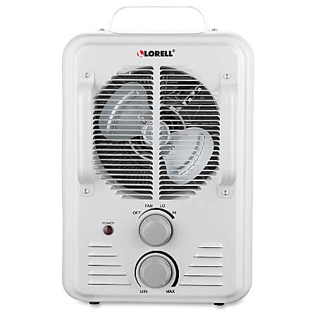 Lorell Portable Ceramic Heater Fan White