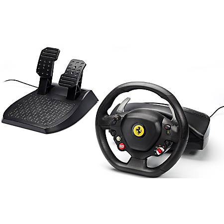 Thrustmaster Ferrari 458 Italia Gaming Steering Wheel - Cable - USB - Xbox 360, PC - 9.84 ft Cable