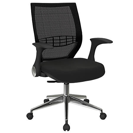 Office Star™ Pro-Line II ProGrid Fabric High-Back Chair, Icon Black/Black/Silver